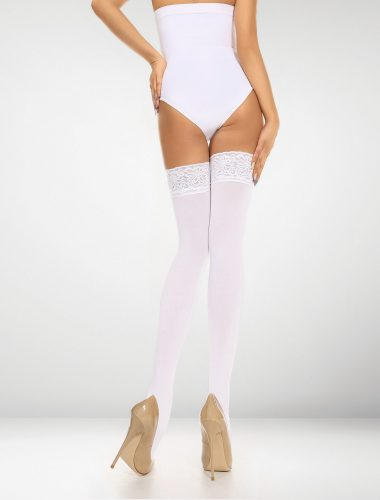 Asti 80 Denier Microfibre Hold Ups - White