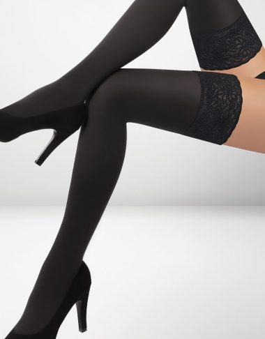 Asti 80 Denier Microfibre Hold Ups - Black