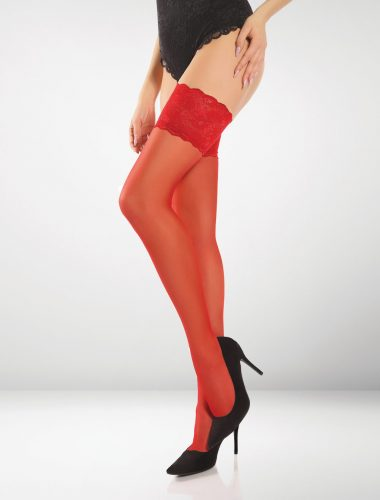 Barletta 20 Denier Hold Ups - Red