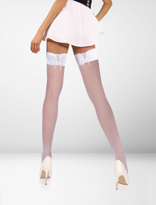 Verona 20 Denier Hold Ups Perfect Fit - White / White