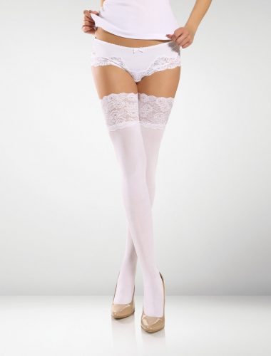 Modica 100 Denier Hold Ups - White
